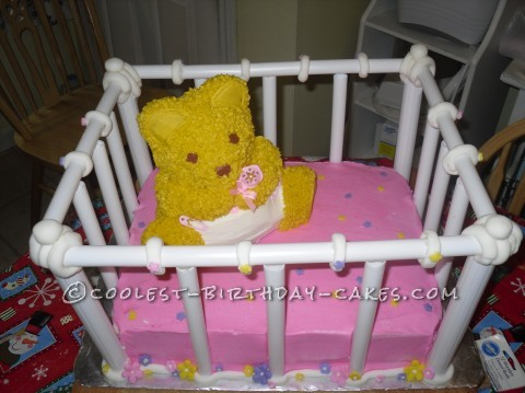 Coolest Baby Shower 3D Crib Cake
