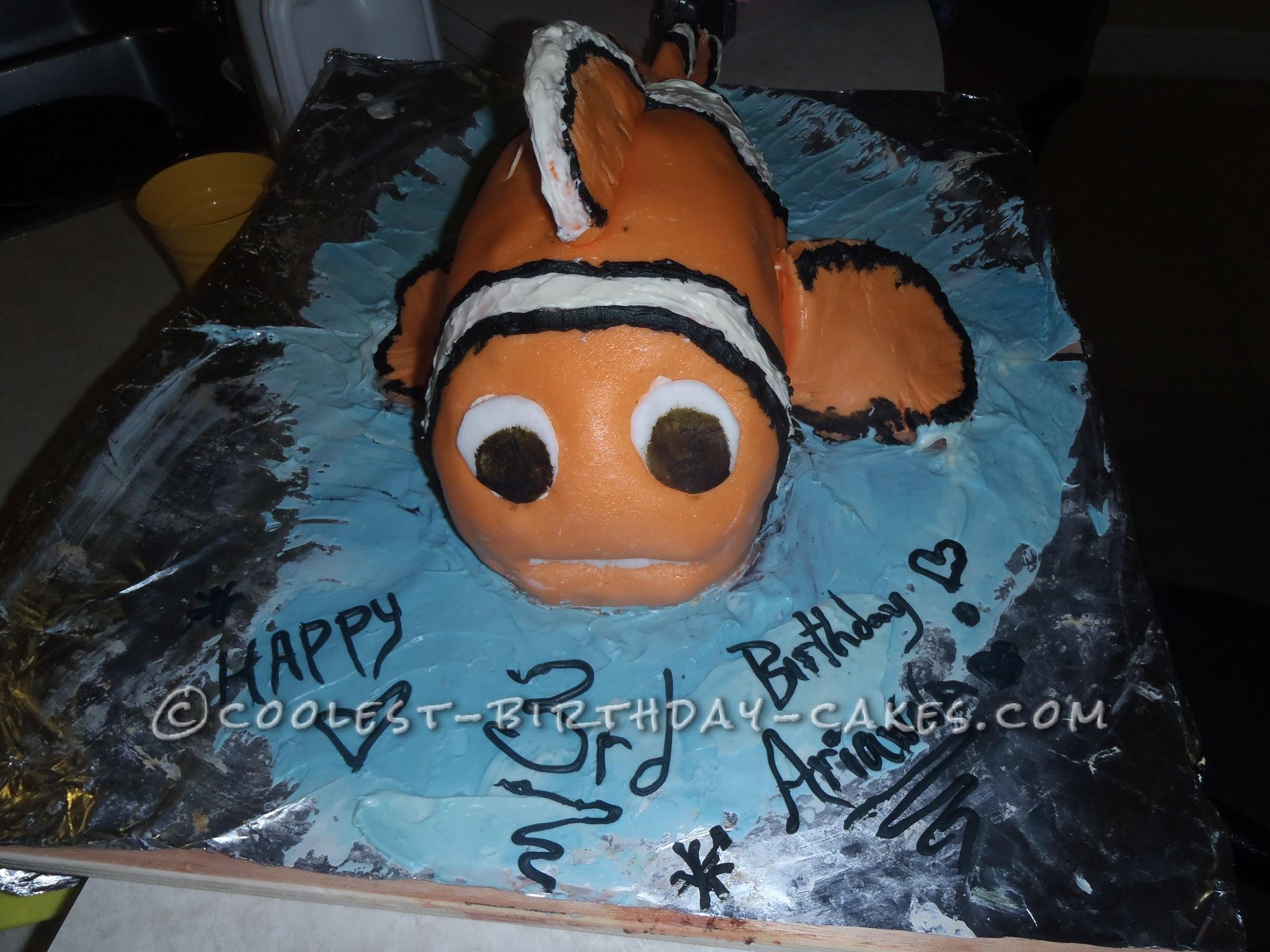 cake 3D Nemo cake i did 10 layers