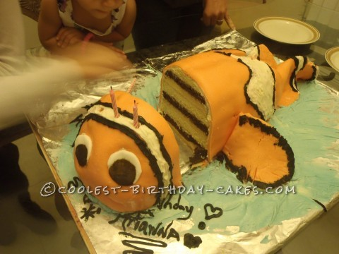 cake 3D Nemo cake i did 10 layers