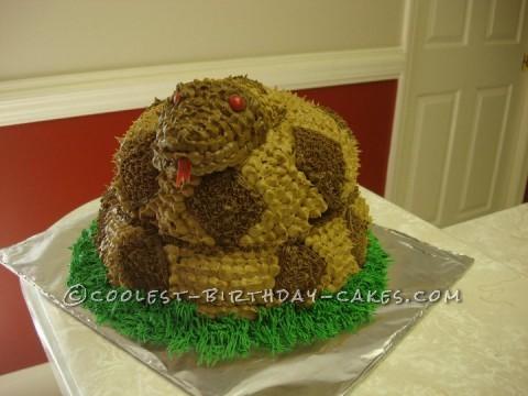 Coiled Rattlesnake Cake