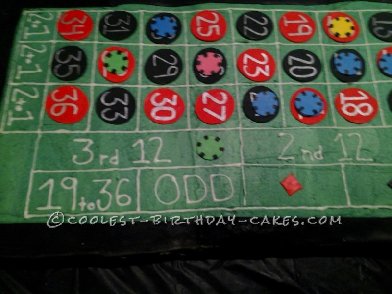 Coolest Roulette Birthday Cake - 5 Feet Long!