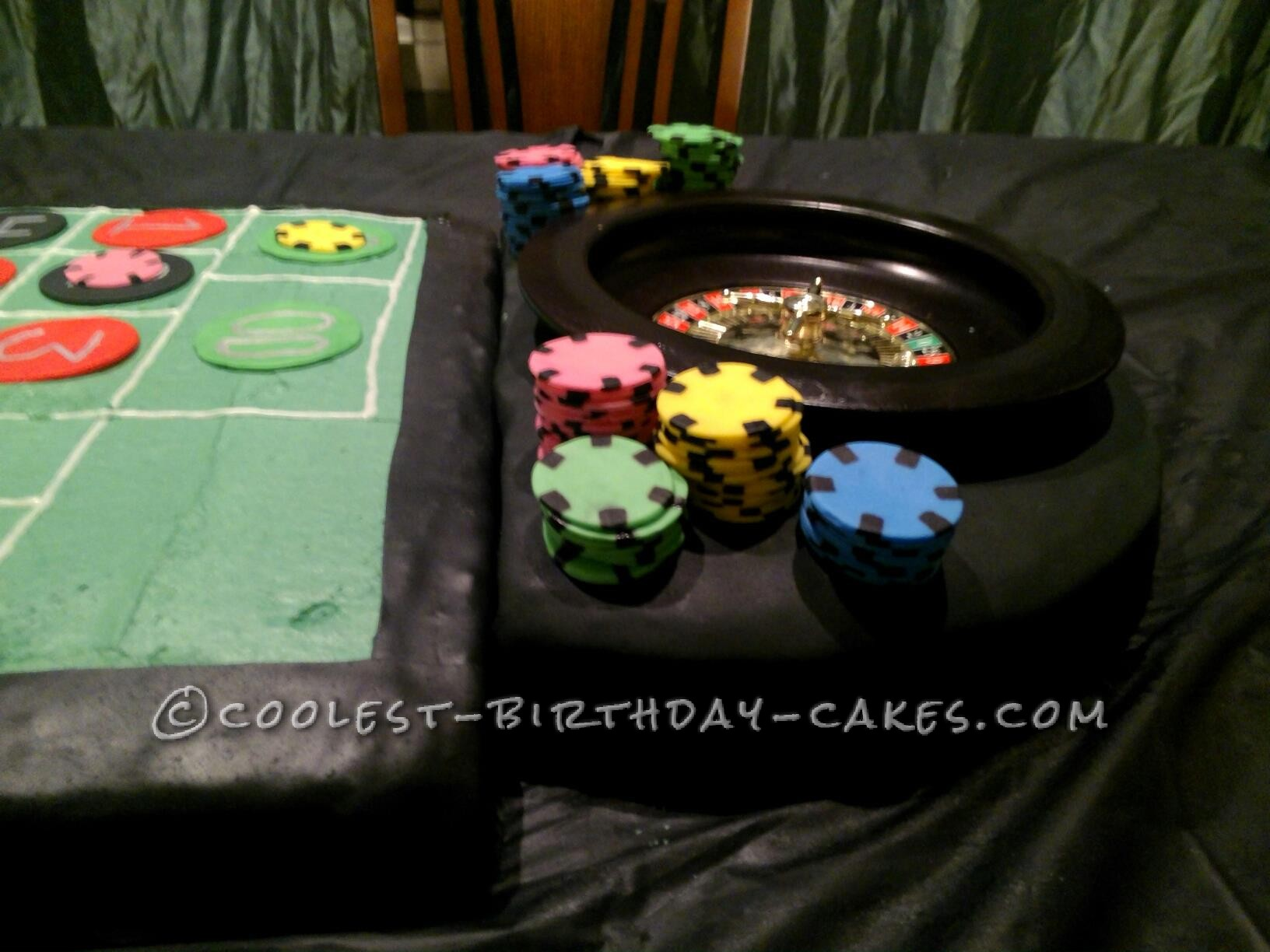 Coolest Roulette Birthday Cake - 5 Feet Long!