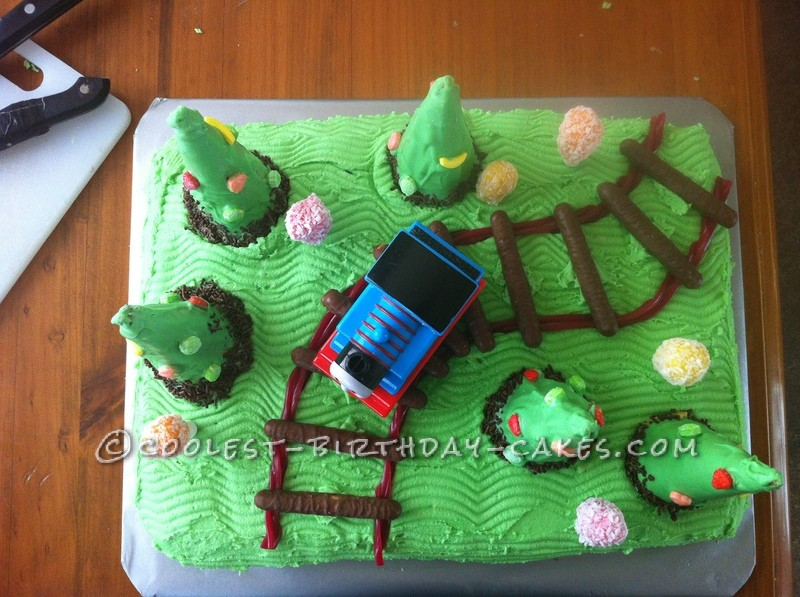 Cake Images For 2 Year Old Boy : Coolest Train Cake for a 2-Year Old Boy