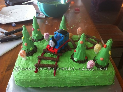 Coolest Train Cake for a 2-Year Old Boy