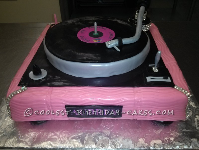 Cool pink turntable