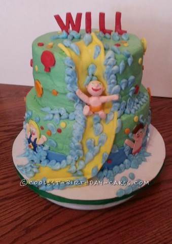Coolest Waterslide Birthday Cake