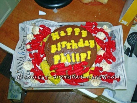Coolest Crawfish Boil Birthday Cake