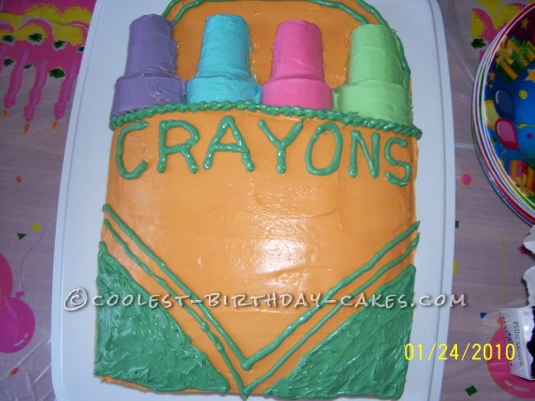 Coolest Crayon Box Cake for a Creative Kid