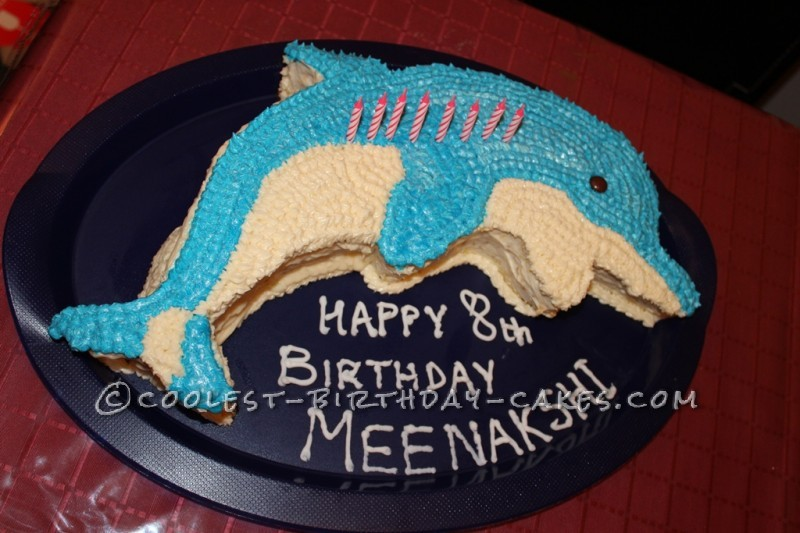 Cute and Bright Dolphin Cake