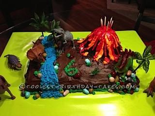 Coolest Jurassic Scene Birthday Cake