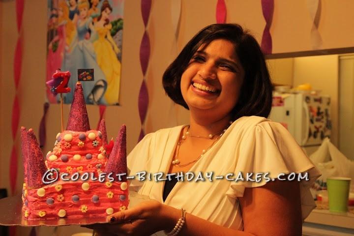 Disney Princes Castle Cake for 2 Year Old Princess