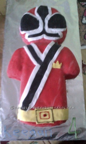 Fab Red Samuria Power Ranger Birthday Cake