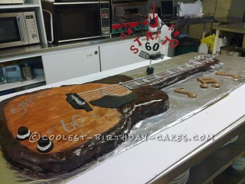 Awesome Full-Sized Guitar Cake