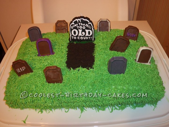 Funny 50th Birthday Graveyard Cake