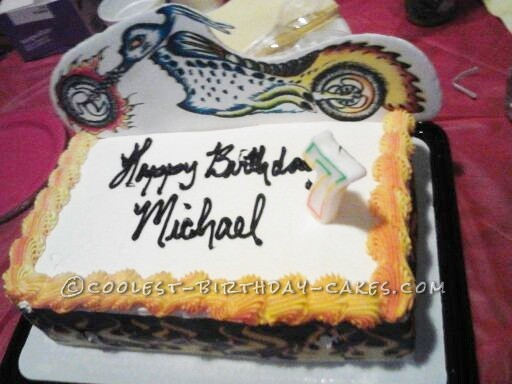 Ghost Rider Cake for 7th Birthday