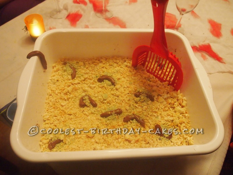 Gross Kitty Litter Cake