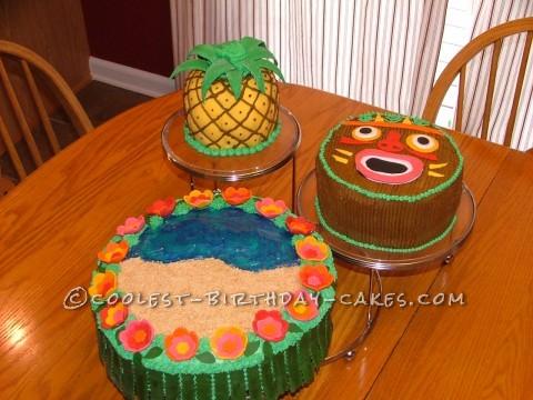 Coolest Hawaiian Luau Cakes