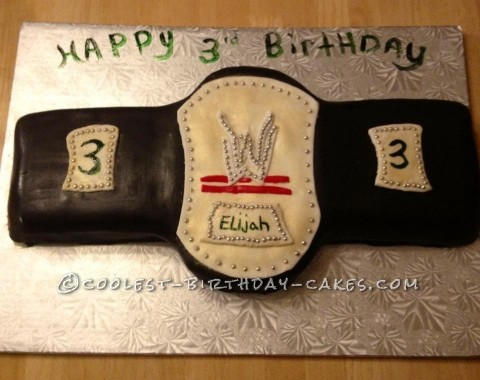 Coolest Wrestling Belt Cake