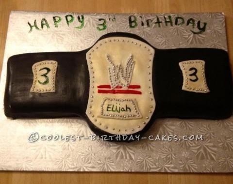 Coolest Wrestling Belt Cake