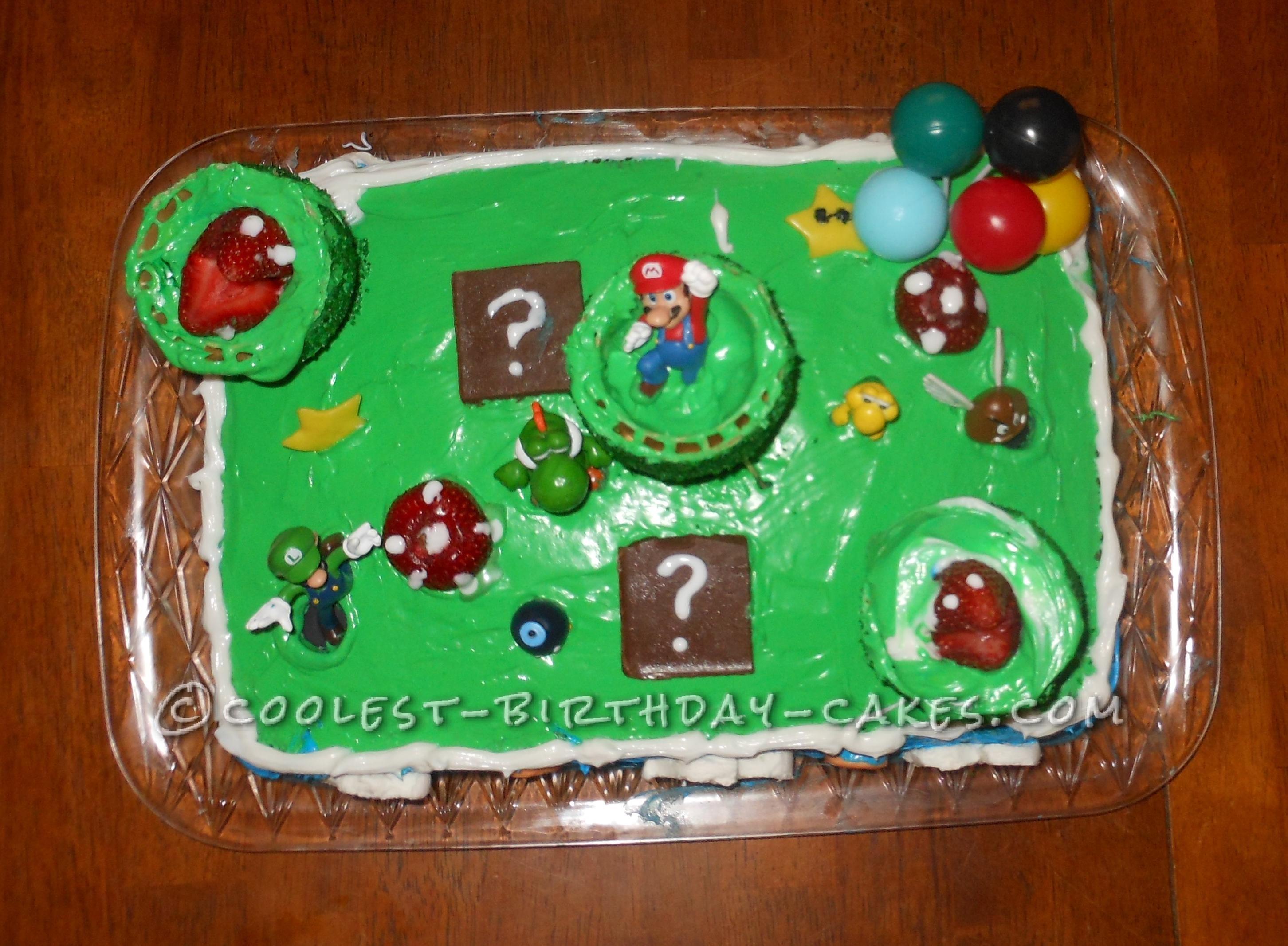 Cool Mario Themed Cake For 6 Year Old Boy
