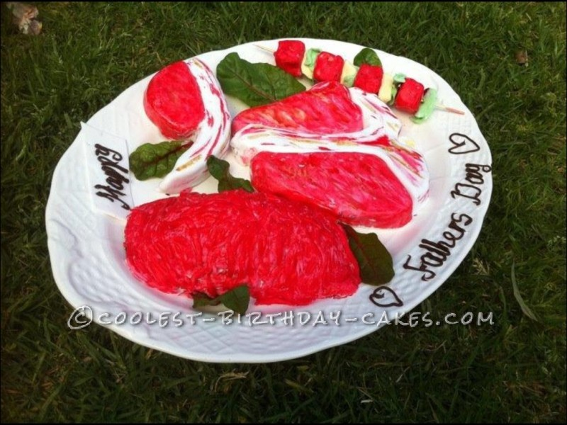 Coolest Meat Tray Cake for Father's Day