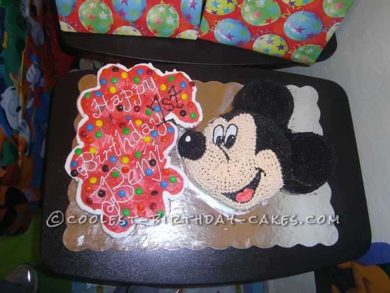 Coolest Mickey Mouse Cake for 1st Birthday