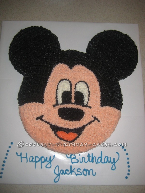 Cool Mickey Mouse Birthday Cake