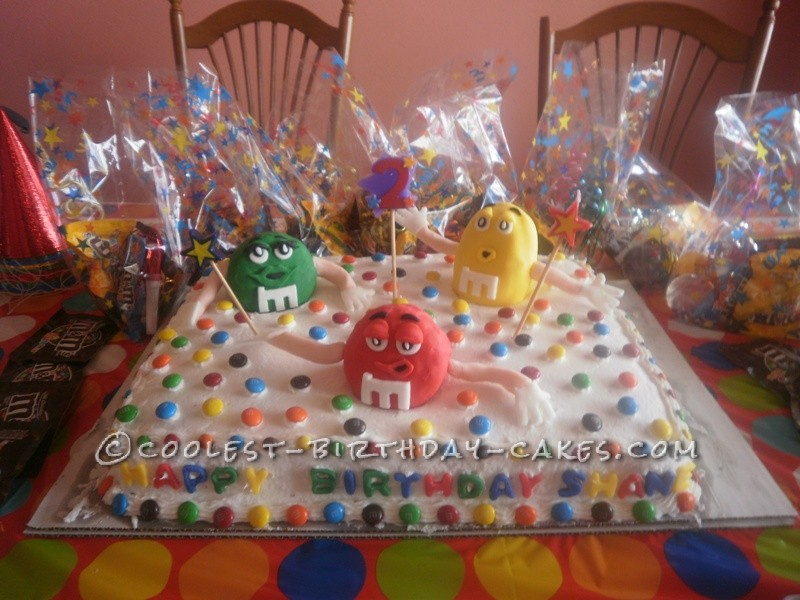 Must-Have M&M Cake for a 2nd Birthday