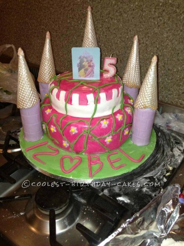 My Homemade Princess Castle Birthday Cake