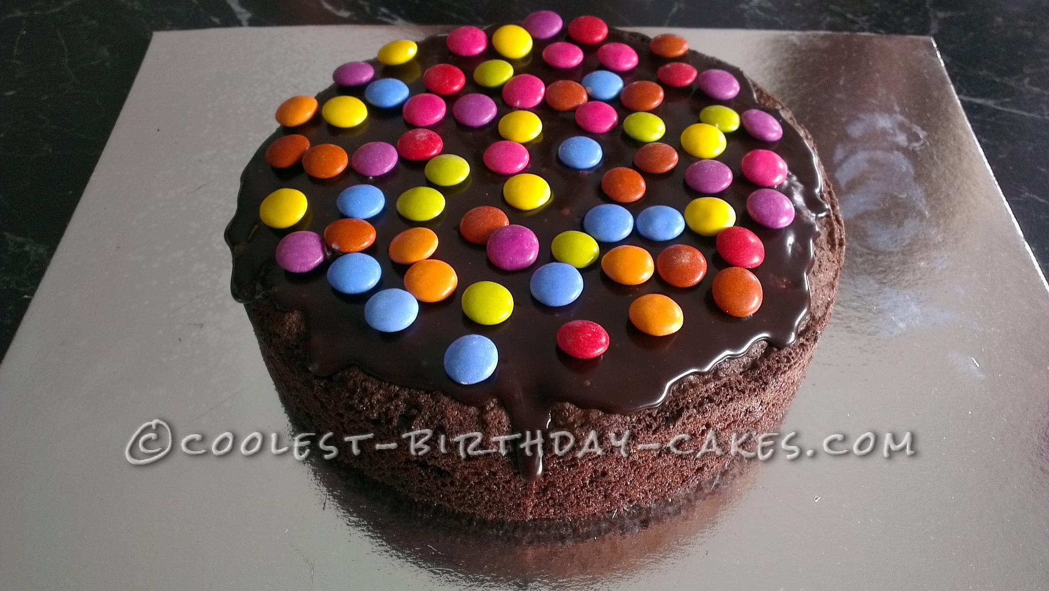 Cool Piñata Smash Cake