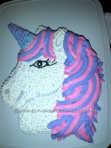 Pretty in Pink and Purple Unicorn Birthday Cake