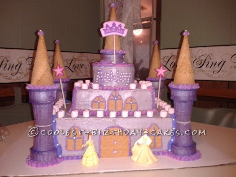 Pretty Princess Castle Cake