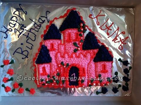 Princess Castle Cake for my Princess's 1st Birthday