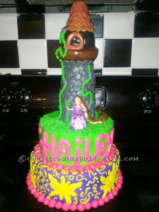 Magnificent Coolest Homemade Rapunzel Tangled Cakes Personalised Birthday Cards Beptaeletsinfo
