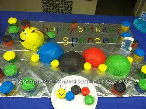 Baby Einstein Caterpillar Cake for a 1st Birthday