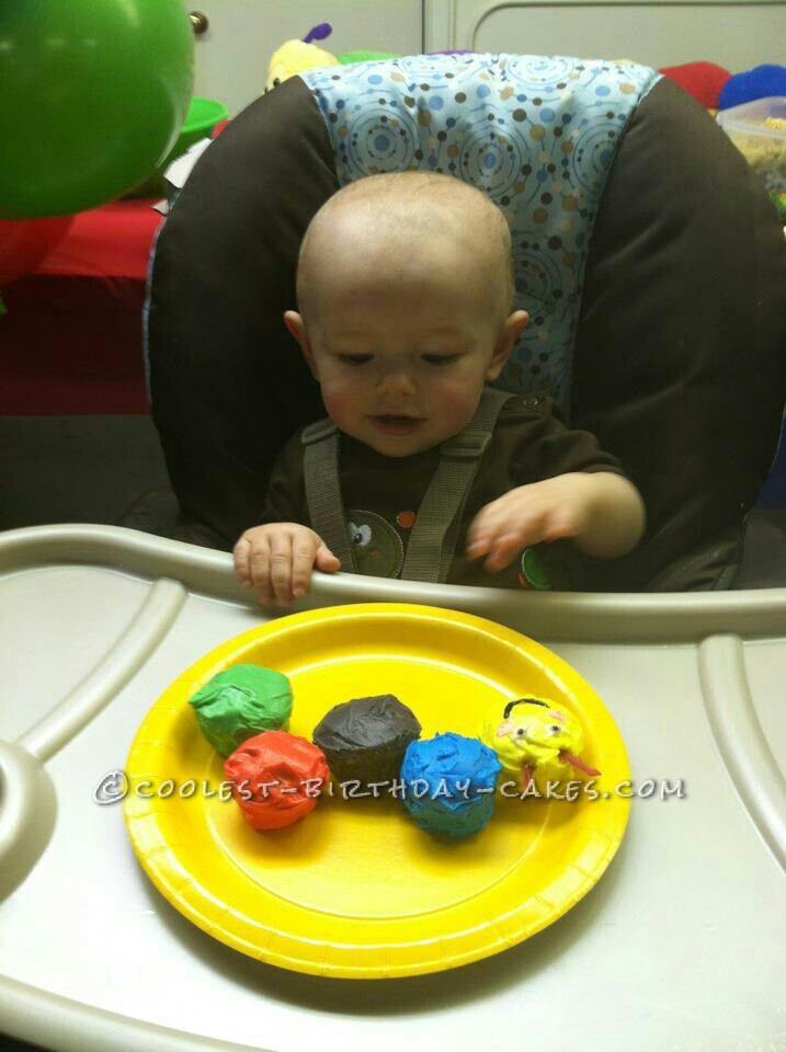 Baby Einstein Caterpillar Cake for a 1st Birthday