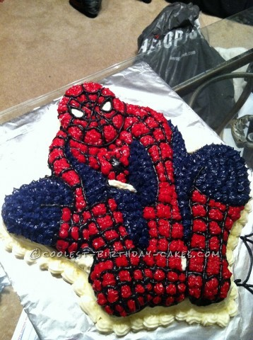 Spider Man Birthday Cake for my 5-Year-Old Spiderman
