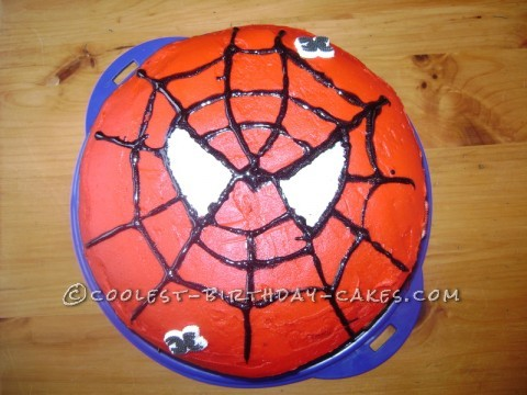 Easy Spiderman Birthday Cake