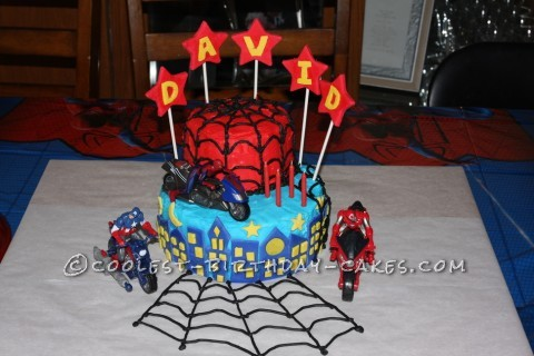 Cool Spiderman Birthday Cake