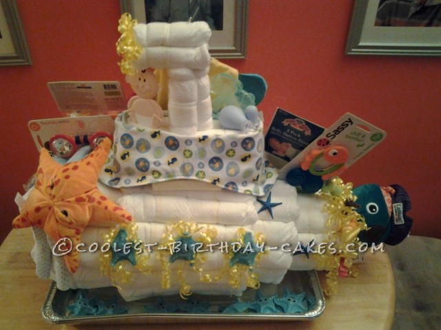 Awesome Submarine Under the Sea Diaper Cake