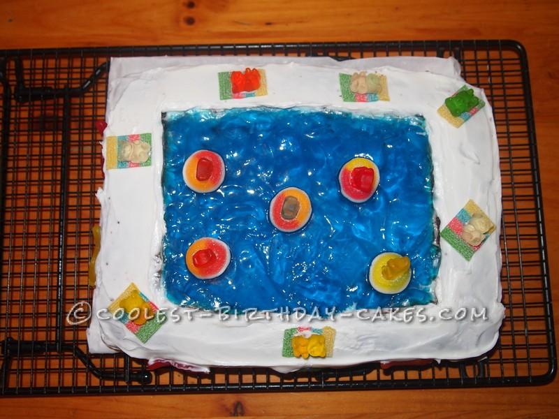 Cool Homemade Swimming Pool Cake