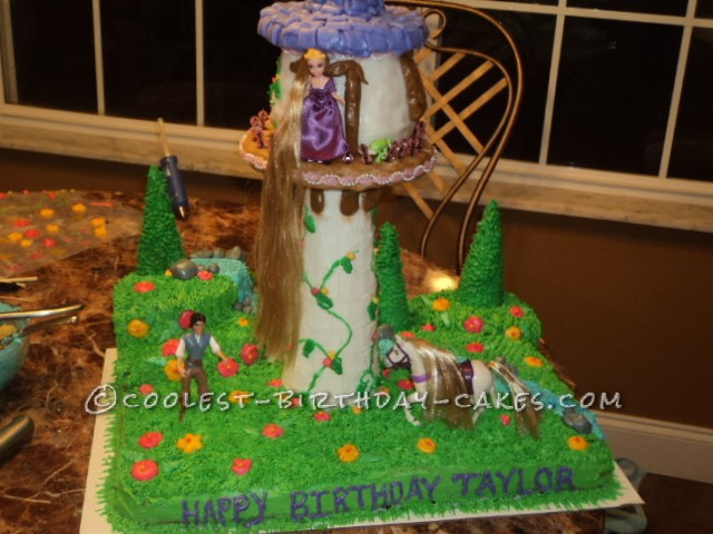 Coolest Tangled Tower Birthday Cake
