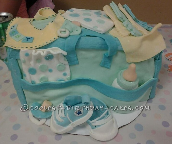 Coolest Diaper Bag Cake