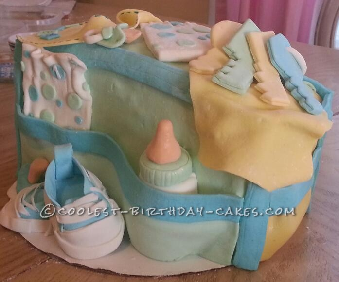Coolest Diaper Bag Cake
