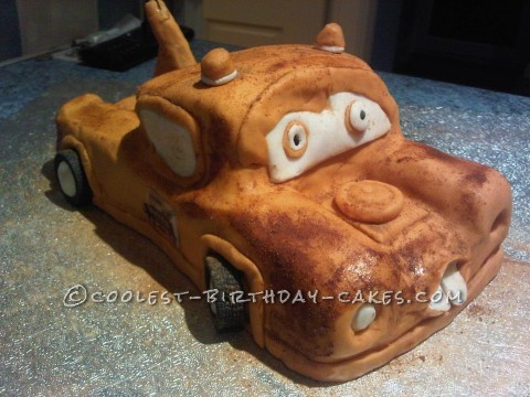 Coolest Homemade Tow Mater Cake