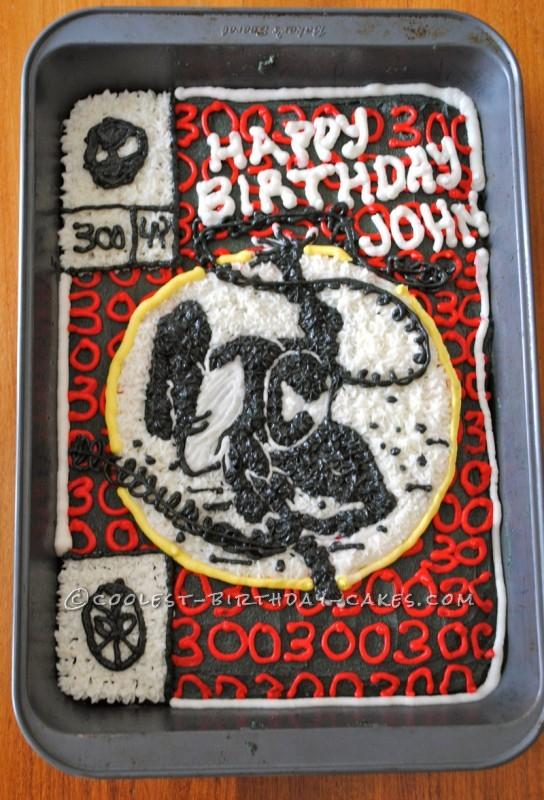 True Fan Spider Man Birthday Cake