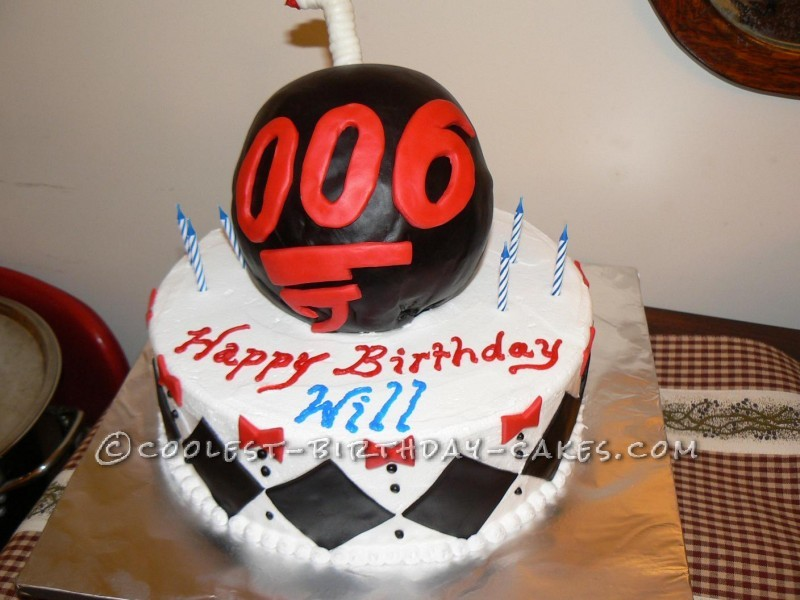 James Bond 006 6th Birthday Cake