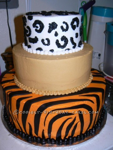 Cool Big Cats Birthday Cake