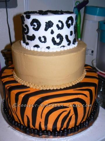 Cool Big Cats Birthday Cake