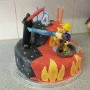 Fireman Sam vs. Darth Vader - A Mixed Up Cake for an Indecisive 4-Year-Old!